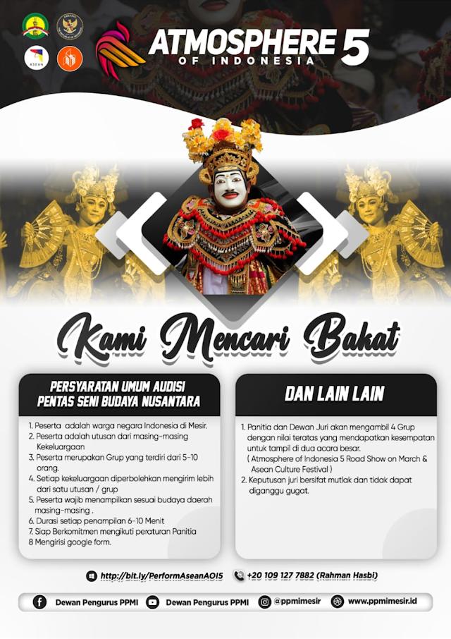 Anda siap untuk Atmosphere of Indonesia 5 dan Asean Culture Festival? Yuk gabung sekarang juga!