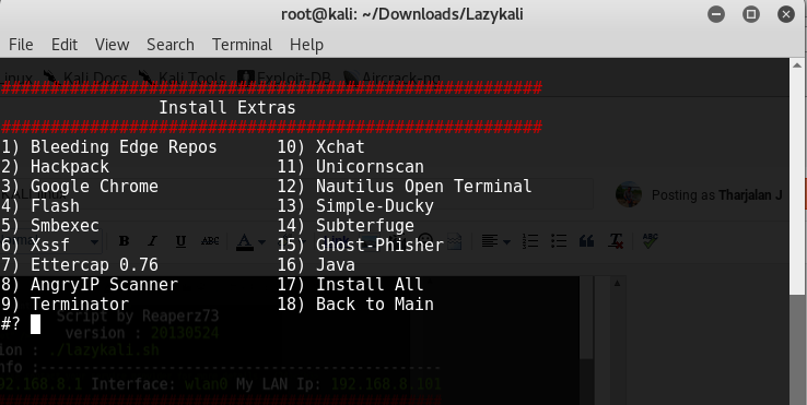 How to install JAVA in KALI linux(Using lazykali) | ZeuSBot Tech