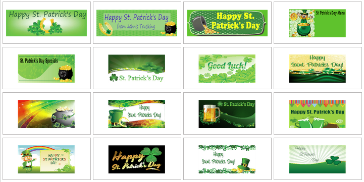 St. Patrick's Day Banner Templates