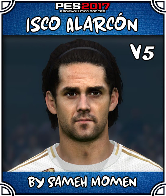 PES 2017 Isco (Real Madrid) Face by Sameh Momen