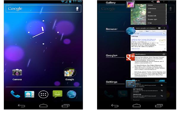 Android version 4.0: ice cream sandwich