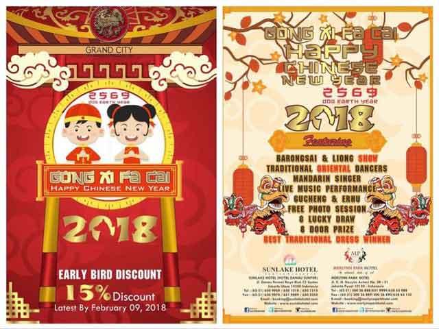 karena datang pada musim semi dan diberi tanggal berdasarkan kalender lunar China Tahun Baru Imlek 2018 Dog Earth Year 2569 di Sunlake dan Shangri-La Hotel Jakarta