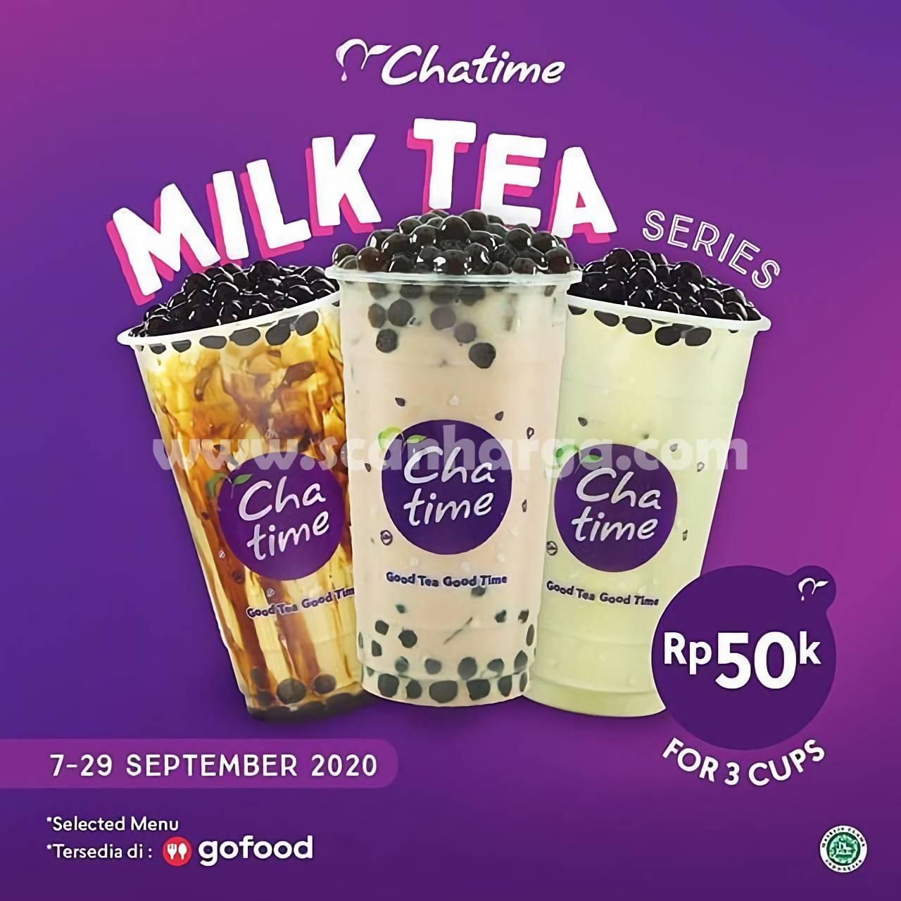 Promo Chatime Terbaru Milk Tea Series 7 - 29 September 2020