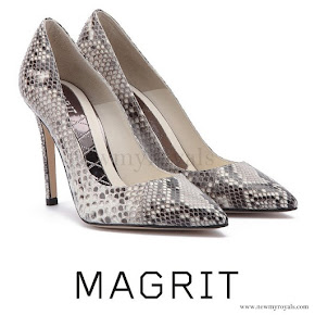 Queen Letizia wore Magrit Snake Leather shoes