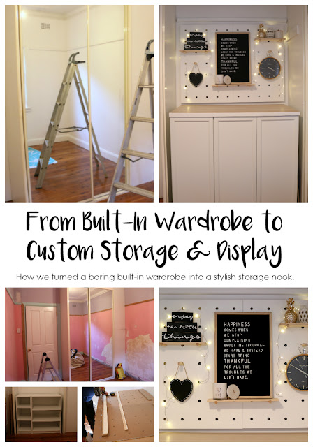 Built In Wardrobe Makeover - How We Turned A Built In Wardrobe Into a Stylish Custom Storage Solution - Easy Built In Wardrobe Renovation