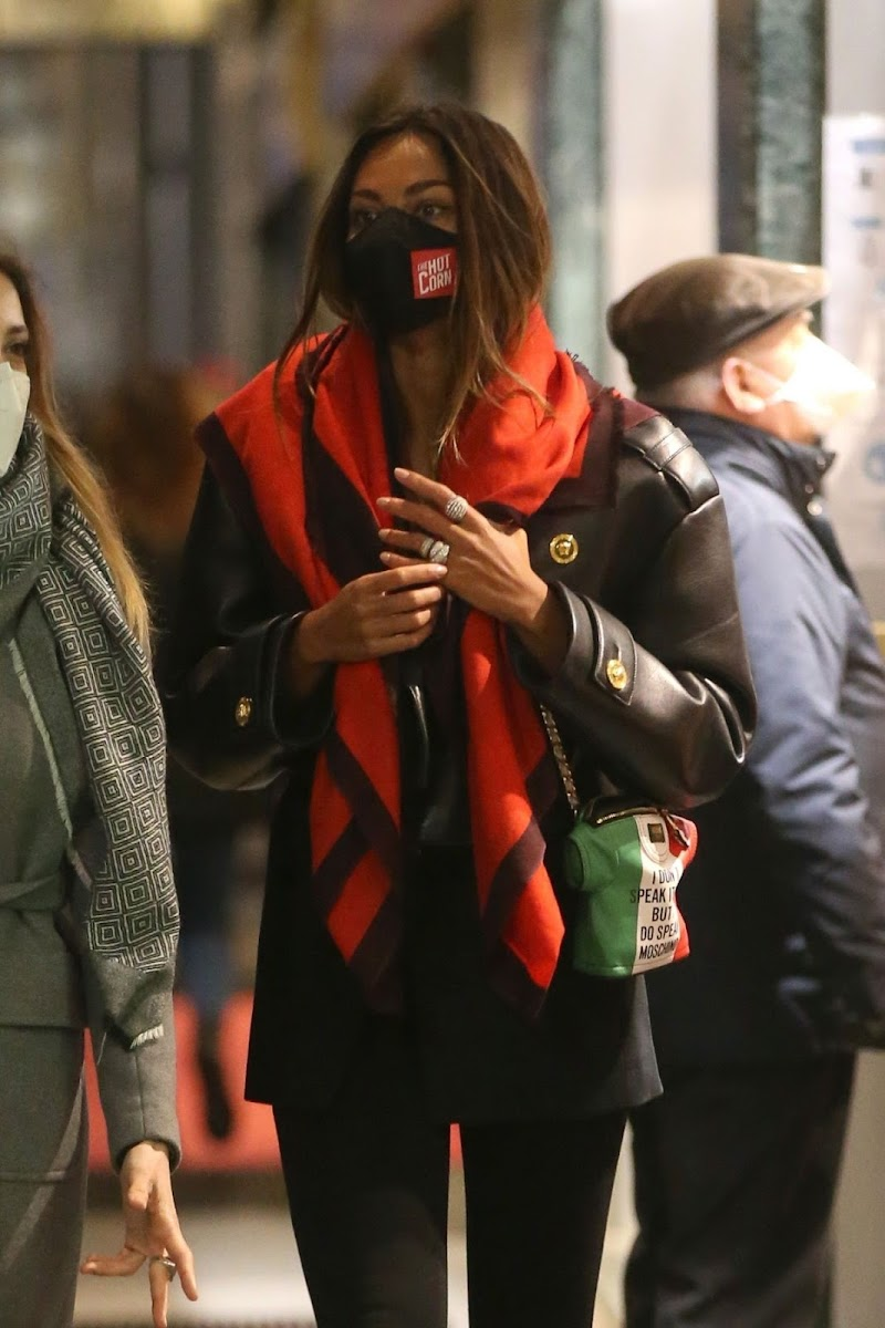 Mădălina Diana Ghenea Clicked Outside in Milan 13 Dec-2020