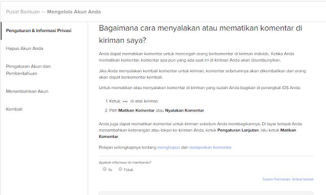 Cara Menonaktifkan Komentar Di Facebook Lewat HP