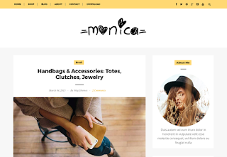 Monica Clean Blogger Template