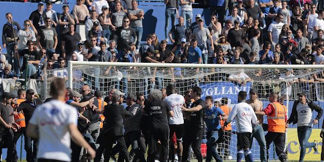 La rencontre entre Bastia-Lyon a donné lieu à des scènes saisissantes dont le football se serait bien passé.