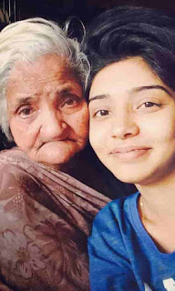 Wish Rathod With Her Grand Mother