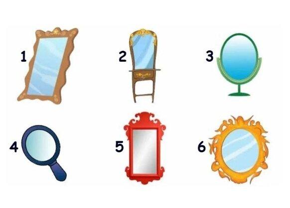 Тест: выберите зеркало и откройте для себя своё отражение
