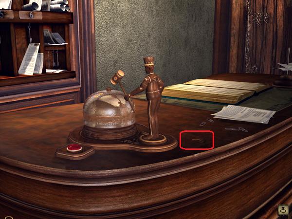 лежит ключ для вызова портье красной кнопкой