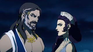 Greek gods -- Zeus and wife Hera