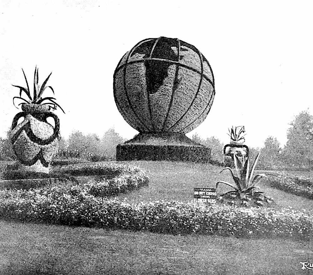 1911 topiary Earth, a photograph