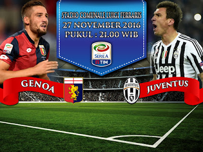 Agen Resmi SBOBET Online Terpercaya - Prediksi Bola Serie A Genoa vs Juventus 27 November 2016