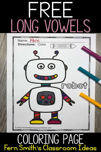 FERN'S FREEBIE FRIDAY ~ FREE LONG VOWEL AND SHORT VOWEL COLORING PAGES FOR YOUR BOYS AND GIRLS!