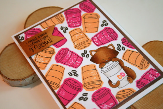 Dunkin Donuts Themed Coffee Card by Jess Crafts using Newton's Nook Newton Loves Coffee