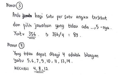 Contoh Soal Psikotes Matematika dan Jawabannya 3
