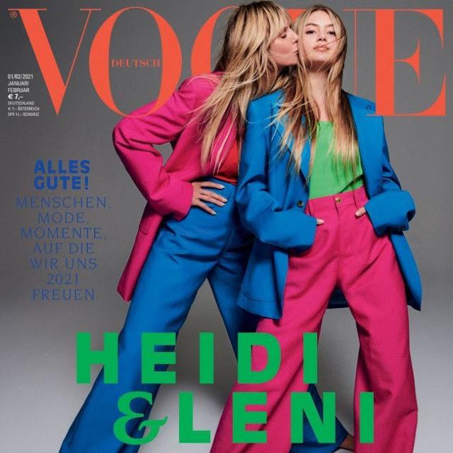La hija de Heidi Klum debuta junto a su madre en la portada de Vogue Alemania