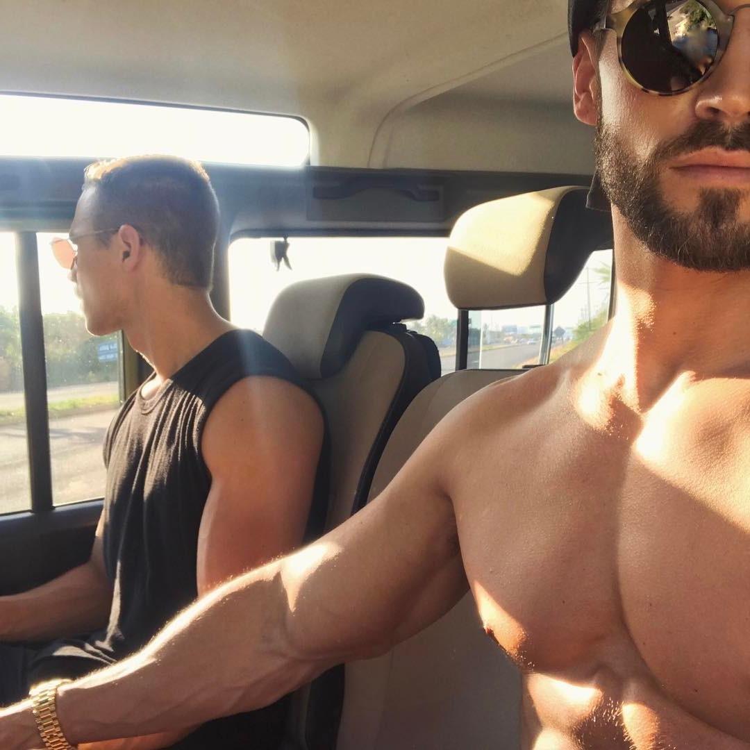 gay-boyfriends-sunglasses-trip-honeymoon-travelling-together-summer