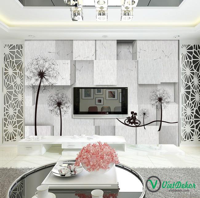Tranh dán tường 3d đồ trang trí phòng ngủ