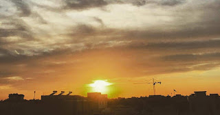 Beautiful sunsets quotes and view from Dubai UAE.