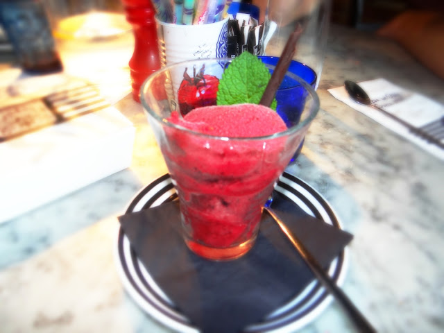 Pizza Express Raspberry Sorbet