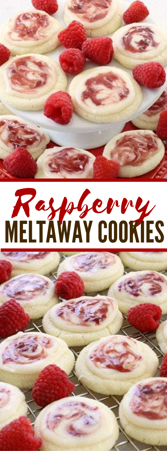 RASPBERRY MELTAWAY COOKIES #desserts #sweets