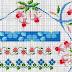 schemi bordi con fiori e frutta a punto croce