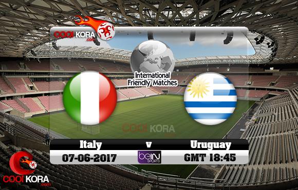 مشاهدة مباراة إيطاليا وأوروجواي اليوم 7-6-2017 مباراة ودية