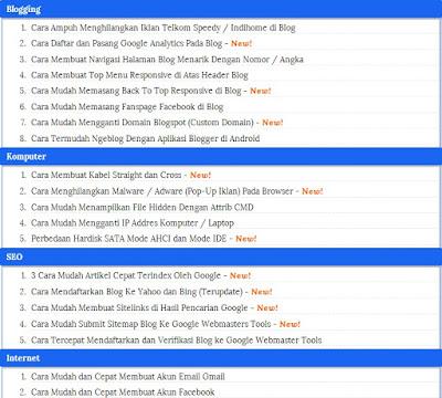 Cara Membuat Sitemap Keren Terbaru di Blogger