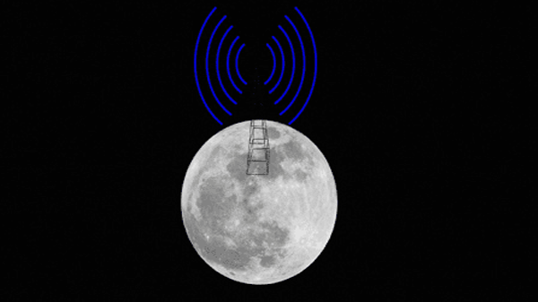The first broadcast network to mobile phones from the surface of the Moon in the next year.