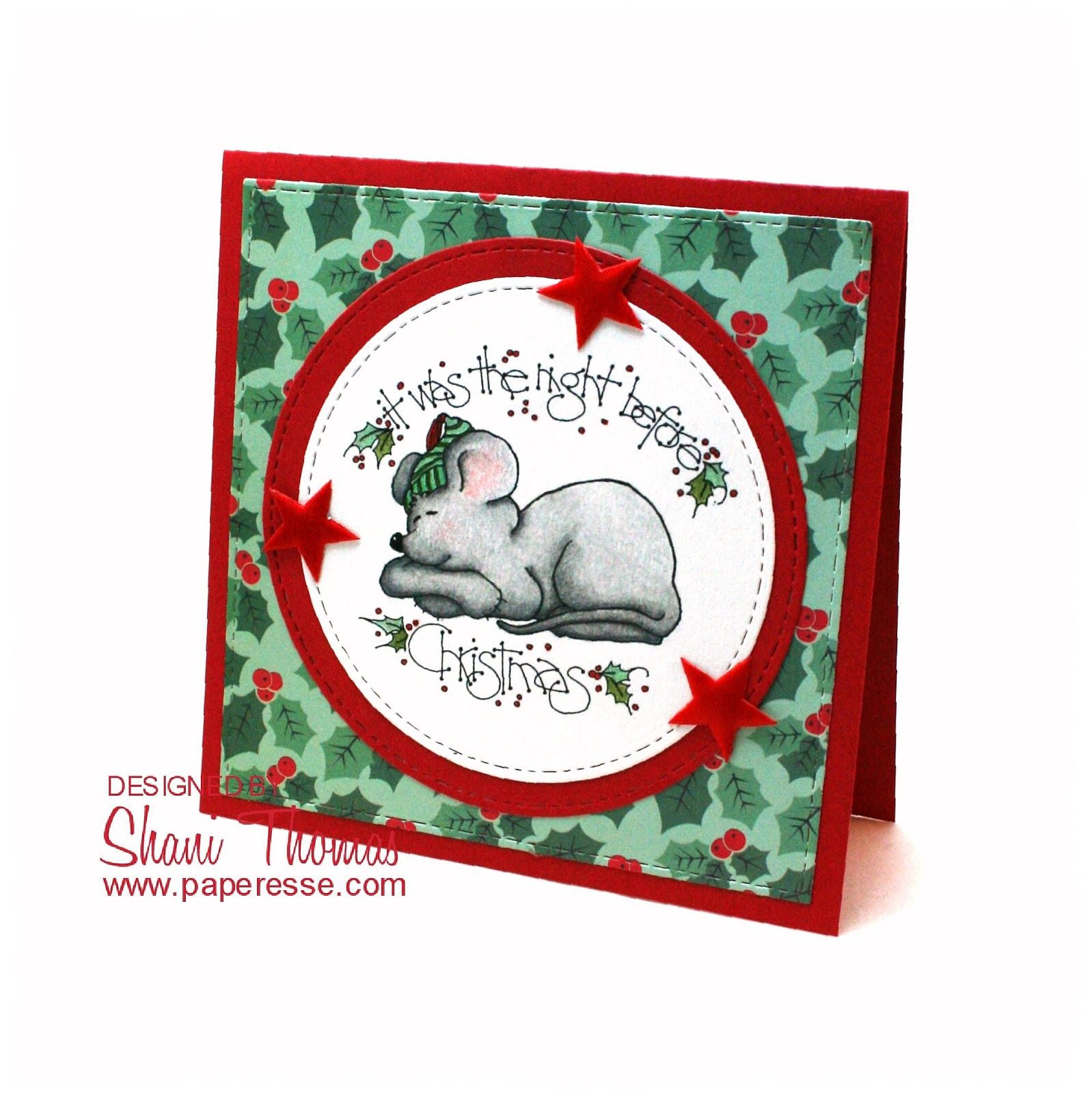 Christmas Stamps 2019.Paperesse Christmas Card Featuring Eureka Stamps The Night