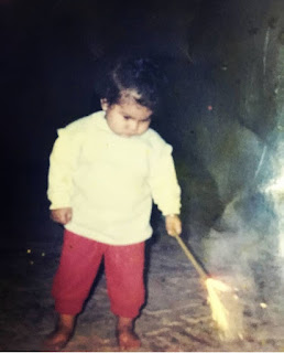 Simiran Kaur Dhadli Childhood Pic