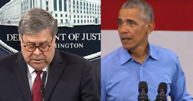 Bill Barr Gets Payback For Trump, Officially Ends Obama's Reign Of Terror