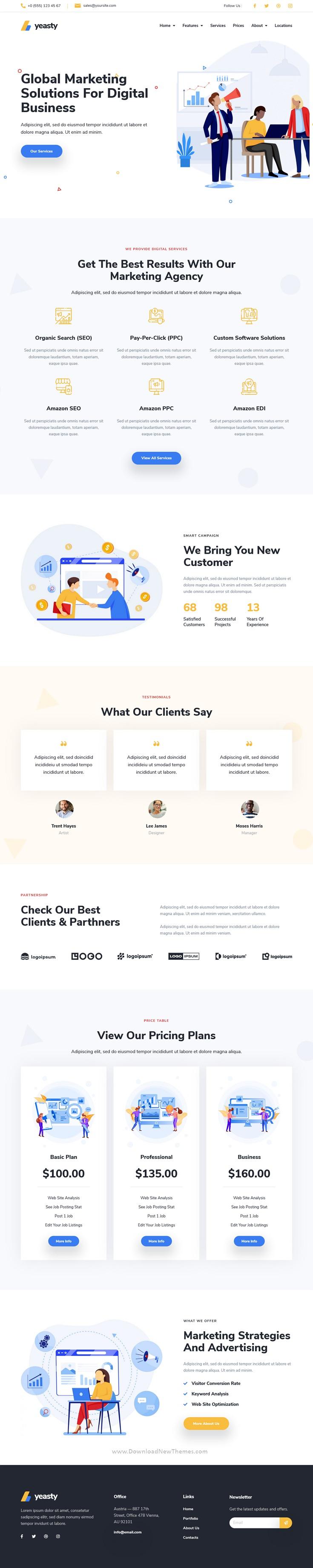 Marketing Agency & Advertising Service Elementor Template Kit