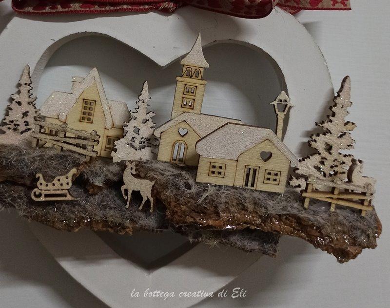 home decor-cuore shabby-paesaggio miniatura