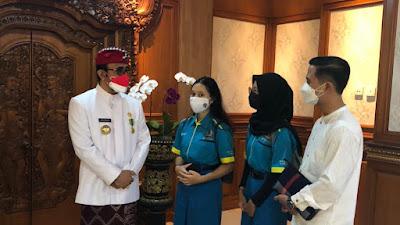 Ekstra Kurikuler Jurnalistik dan Broadasting SMK TI Bali Global Badung Bersama Wali Kota Denpasar Jaya Negara