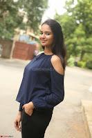 Poojita Super Cute Smile in Blue Top black Trousers at Darsakudu press meet ~ Celebrities Galleries 064.JPG