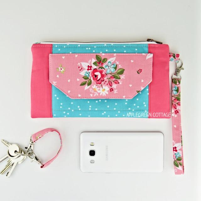 easy wristlet wallet pattern