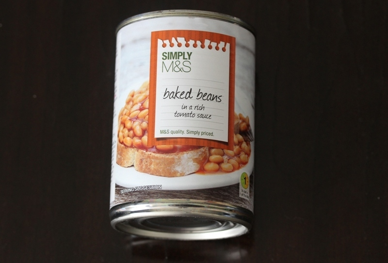 Simply M&S baked beans in a rich tomato sauce