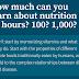 Quanto você pode aprender sobre nutrição em 10 horas? 100? 1.000?