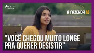 A Fazenda 12 – 'Jakelyne aconselha Lidi – Peões relembram comportamento de Luiza