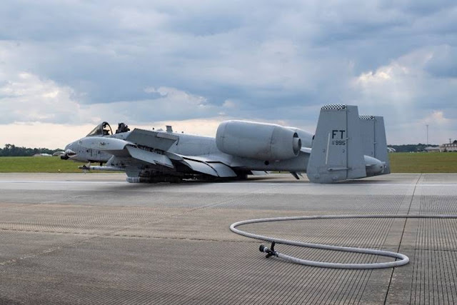A-10 emergency belly landing Moody