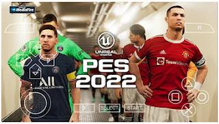 Download PES 2022 PPSSPP Full Transfer Top European Leagues & Update Jersey Season 2021-2022