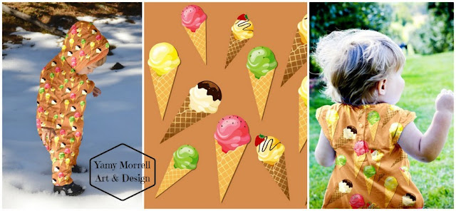 ice cream-cones-marrón-pattern-yamy-morrell