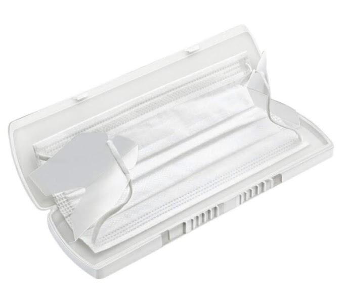 【對抗肺炎】台灣製造口罩保護盒 一套包消毒棒、除臭劑