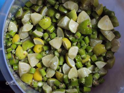 lime and chilly pickle   nimbu hari mirch ka achar