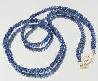 Collar de perlas azules