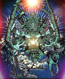 Impresionante representación de Viracocha.